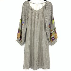 Feather Bone Lindsey Embroidered Tunic Dress